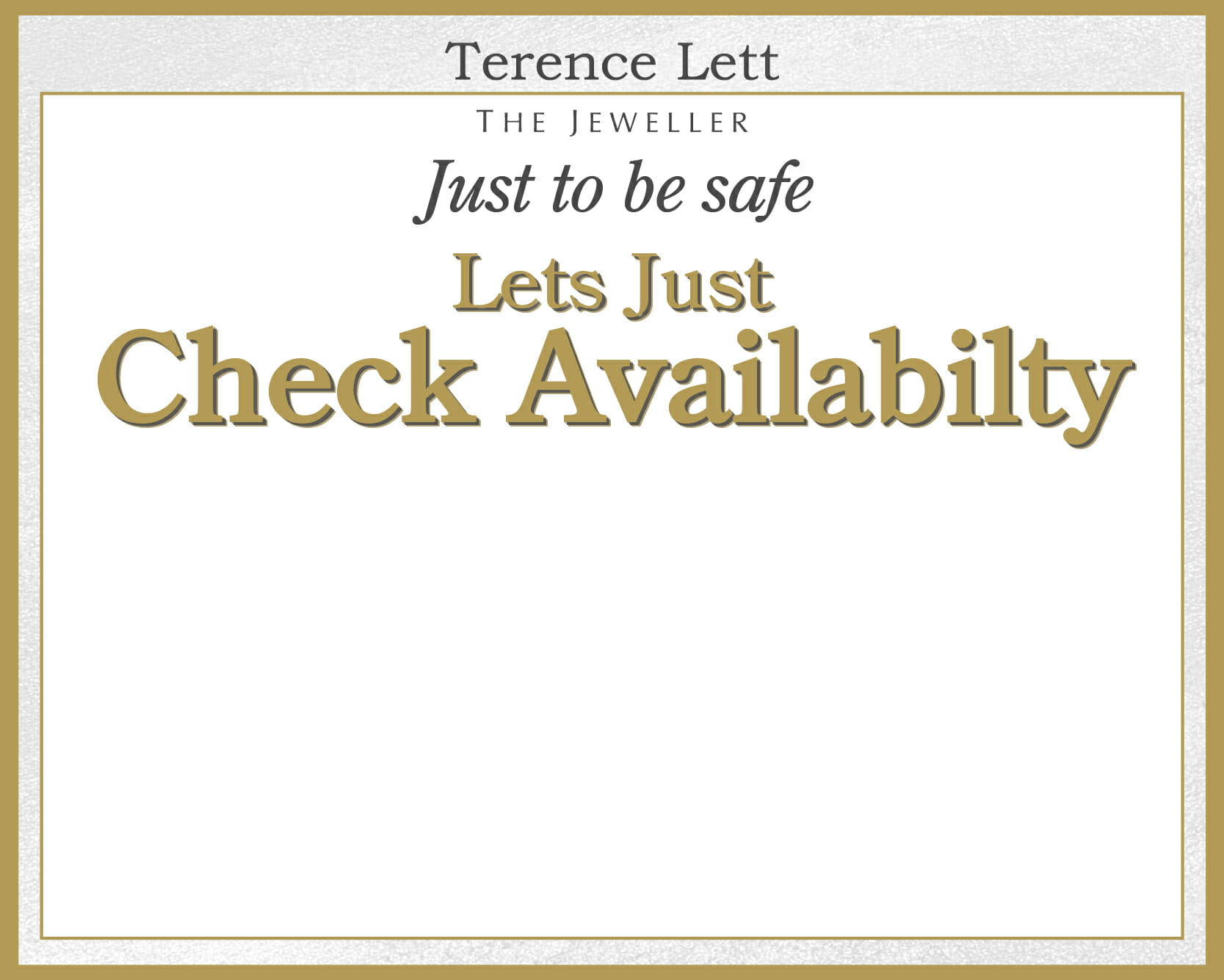 Out of stock - Terence Lett The Jeweller