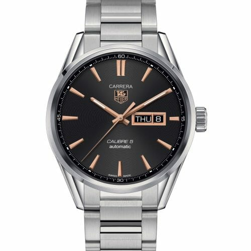 TAG Heuer Carrera Calibre 5 Steel Black Day/Date Dial 41mm- front view