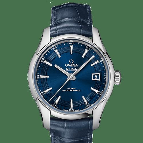 """Omega De Ville Hour Vision """"Orbis"""" Master Chronometer Blue Dial 41mm- Front"""
