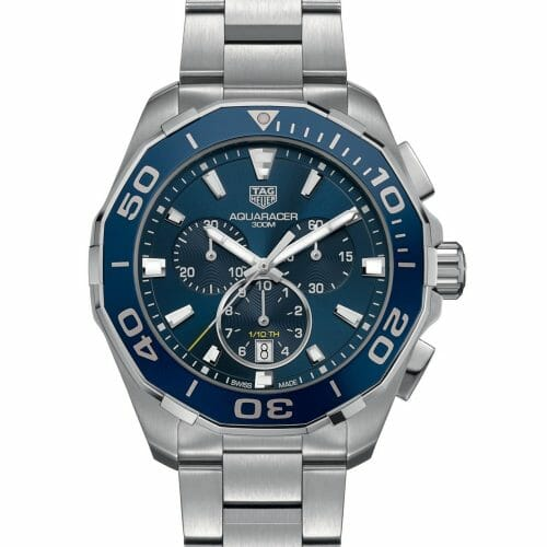TAG Heuer Aquaracer Chronograph Steel Blue Dial 43mm- front