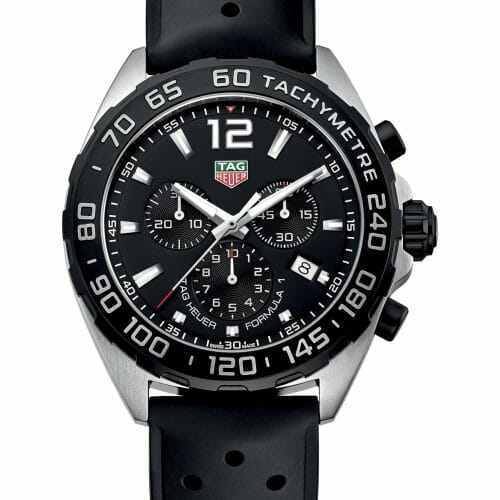 TAG Heuer Formula 1 Chronograph Steel Black Dial 43mm- front