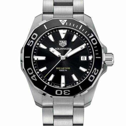 TAG Heuer Aquaracer Steel Black Dial 41mm- front view