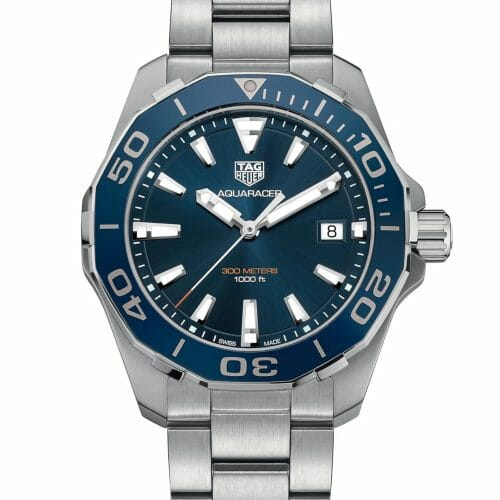 TAG Heuer Aquaracer Steel Blue Dial 41mm- front