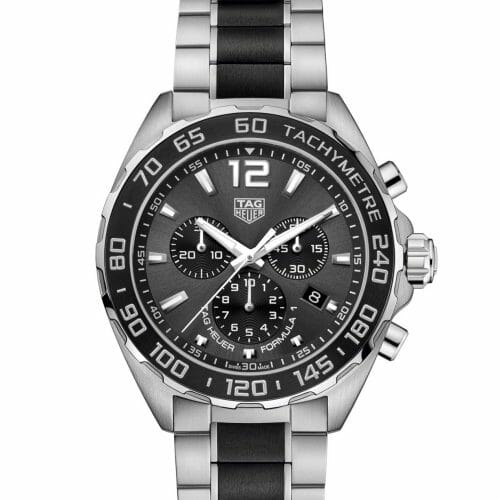 TAG Heuer Formula 1 Chronograph Steel & Ceramic Anthracite Dial 43mm- front view