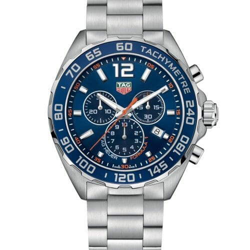 TAG Heuer Formula 1 Chronograph Steel Blue Dial 43mm- front
