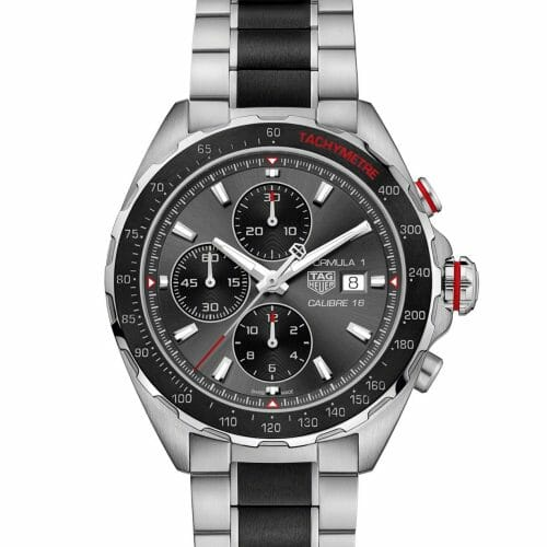 TAG Heuer Formula 1 Calibre 16 Chronograph Steel & Ceramic Anthracite Dial 44mm- front view
