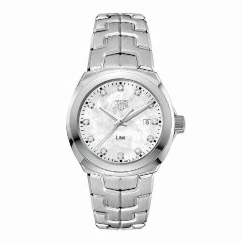 TAG Heuer Link Steel Diamond Dot Mother of Pearl Dial 32mm- front