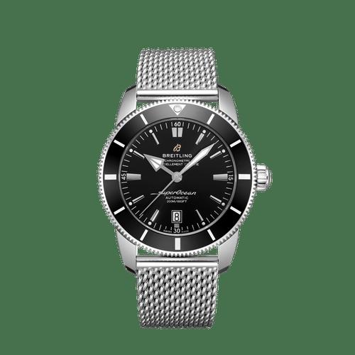 Breitling Superocean Heritage II Steel Black Dial 46mm- Front