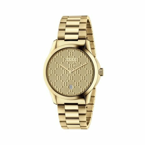 Gucci G-Timeless Gold PVD Coated Gold Dial 38mm- front