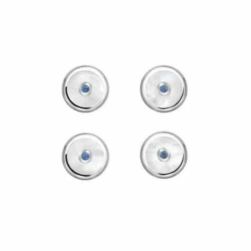Deakin & Francis Sterling Silver Round Sapphire & Mother of Pearl Dress Stud Set