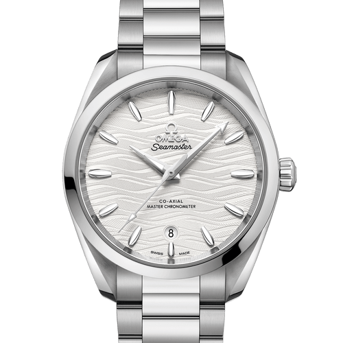 Omega Seamaster Aqua Terra Co-Axial Master Chronometer Silver Dial 38mm- front