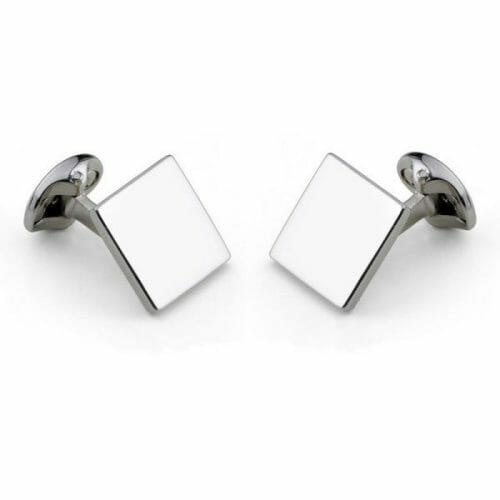 Deakin & Francis Sterling Silver Plain Square Cufflinks