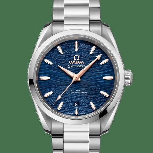Omega Seamaster Aqua Terra Co-Axial Master Chronometer Blue Dial 38mm- front