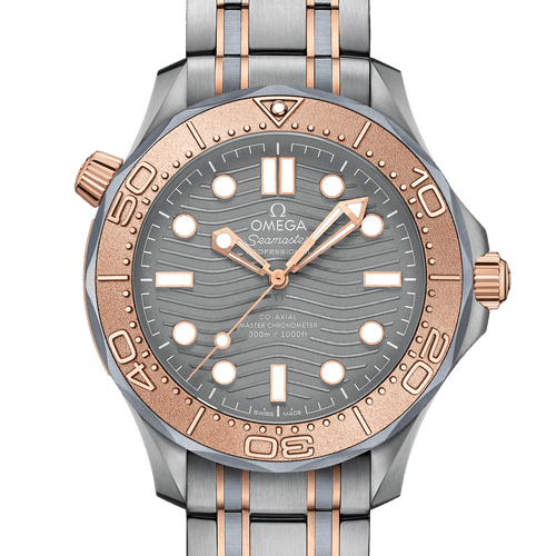 OMEGA Seamaster Diver 300M Co-Axial Master Chronometer Limited Edition Titanium Tantalum & Sedna™ Gold 42mm- front