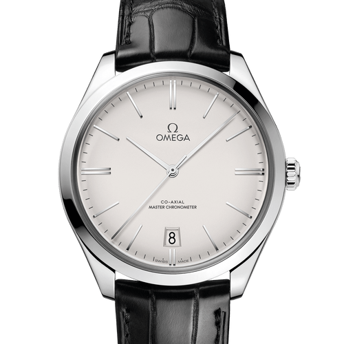 Omega De Ville Tresor II Co-Axial Master Chronometer Manual Wind Silver Dial 40mm- front view
