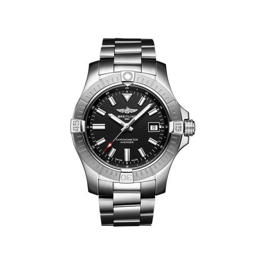 Breitling Avenger Automatic Steel Black Dial 43mm- Front View