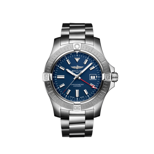 Breitling Avenger Automatic GMT Steel Blue Dial 45mm- Front View