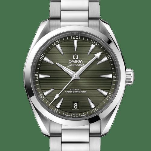 Omega Seamaster Aqua Terra Co-Axial Master Chronometer Green Dial 41mm- front