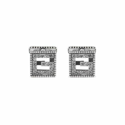 Gucci Sterling Silver G-Cube Cufflinks