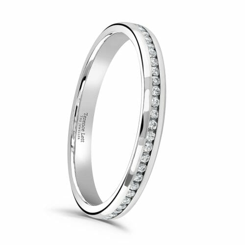 Round Brilliant Diamond Channel Set Full Eternity Ring 0.27ct
