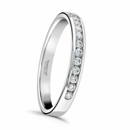 Round Brilliant Diamond Channel Set Half Eternity Ring 0.20ct HET148