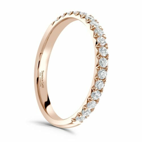 Round Brilliant Diamond Claw Set Half Eternity Ring 0.34ct