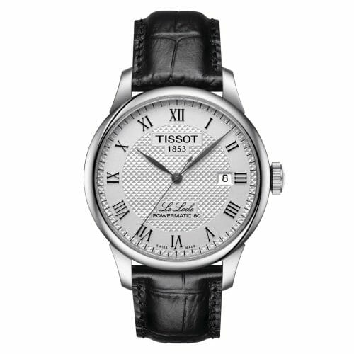 Tissot Le Locle Powermatic 80 Steel Silver Dial 39.3mm- Front View