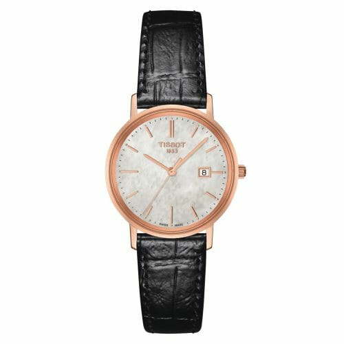 Tissot Goldrun 18ct Rose Gold Mother of Pearl Dial 29mm- Front View