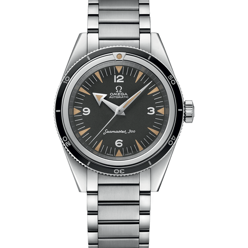 """Omega Seamaster 300 """"1957 Limited Edition XXXX/3557"""" Tropical Black Dial 39mm- front"""