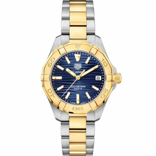 TAG Heuer Aquaracer Steel & Gold Plated Blue Wave Dial 32mm- Front