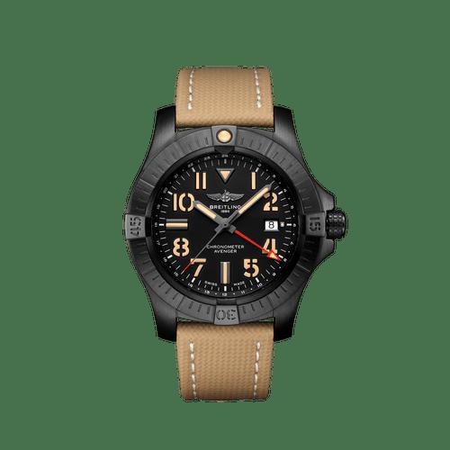 Breitling Avenger GMT Night Mission Black Titanium Black Dial 45mm- Front