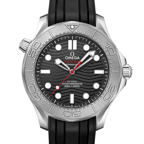 Omega Seamaster Diver 300M Co-Axial Master Chronometer Black Dial 42mm Nekton Edition- Front View