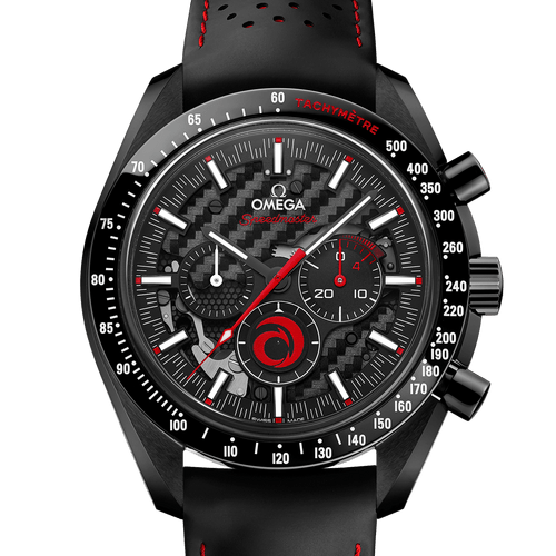 Omega Speedmaster Ceramic Alinghi Chronograph Black Dial 44.25mm- Front