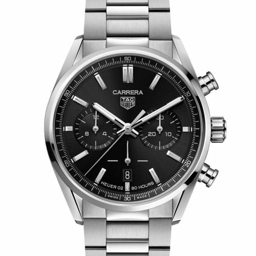 TAG Heuer Carrera Heuer 02 Chronograph Steel Black Dial 42mm- Front
