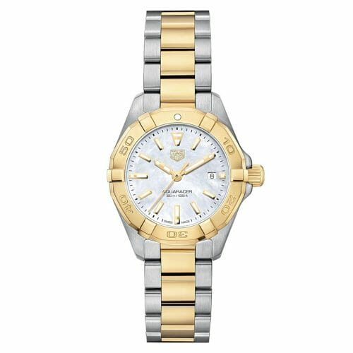 TAG Heuer Aquaracer Steel & Gold Plated Mother of Pearl Dial 27mm- Front