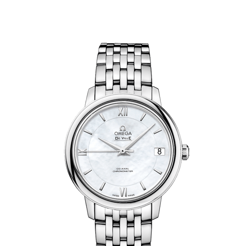 Omega De Ville Prestige Co-Axial Mother Of Pearl Dial 32.7mm- Front