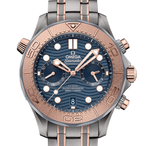 OMEGA Seamaster Diver 300M Co-Axial Master Chronometer Chronograph Numbered Edition Titanium Tantalum & Sedna™ Gold 44mm- Front
