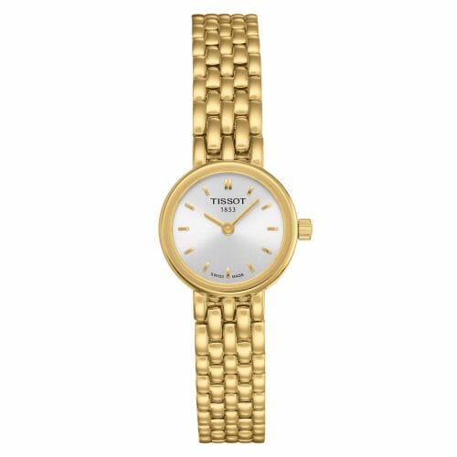 Tissot Lovely Gold PVD Coated Silver Dial 19.5mm - Front View