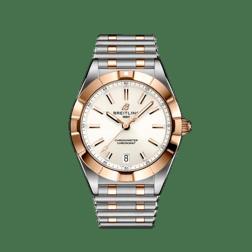 Breitling Chronomat Steel & 18ct Rose Gold White Dial 32mm