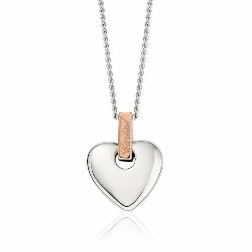 Clogau Sterling Silver & 9ct Rose Gold Cariad Heart Pendant