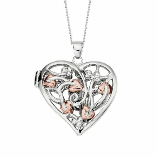 Clogau Sterling Silver & 9ct Rose Gold Tree of Life Fairy Locket