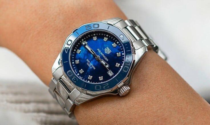 Female Wearing a Omega Watch