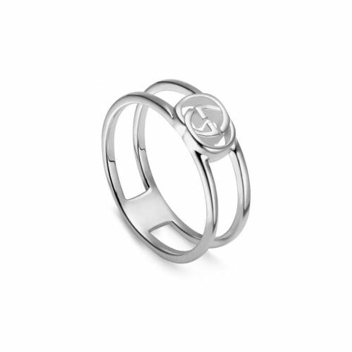 Gucci Sterling Silver Interlocking G Open 6mm Ring YBC298036001