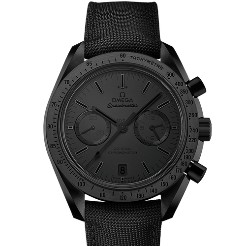 "Omega Speedmaster Dark Side Of The Moon ""Black Black"" Ceramic Chronograph Black Dial- Front"