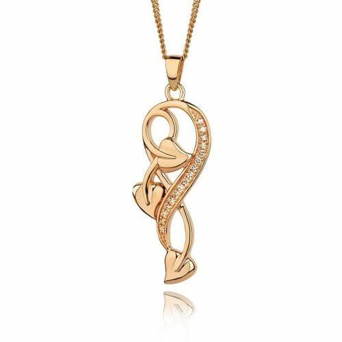Clogau 18ct Rose Gold 1854 Tree of Life Diamond Pendant
