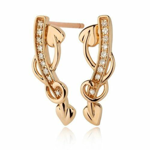 Clogau 18ct Rose Gold Tree of Life Diamond Stud Earrings