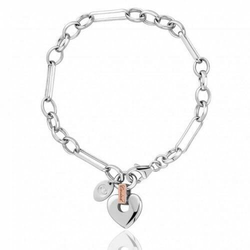Clogau Jewellery Sterling Silver & 9ct Rose Gold Bracelet