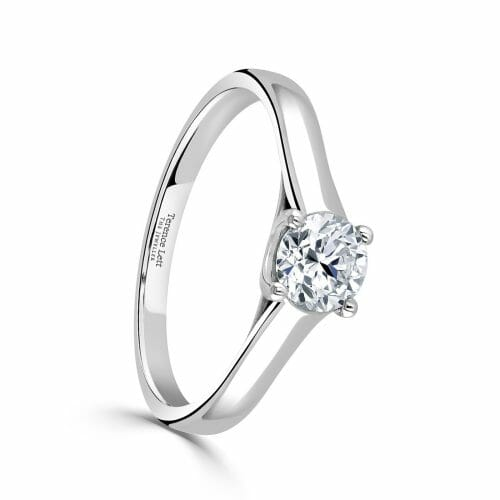 Round Brilliant Cut Diamond Single Stone Four Claw Ring 0.50ct DR2874 – 18ct Yellow Gold