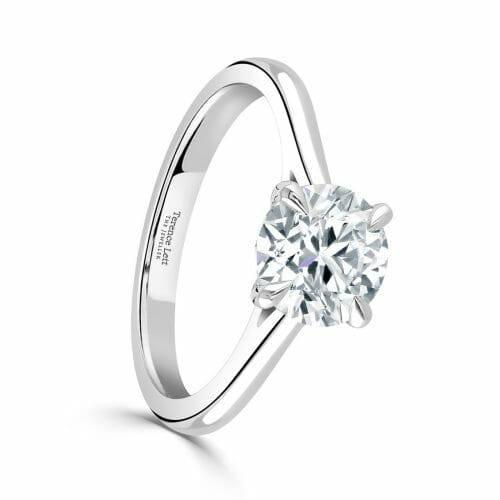 Round Brilliant Cut Diamond Single Stone Four Claw Ring 1.50ct DR2912 – 18ct Yellow Gold