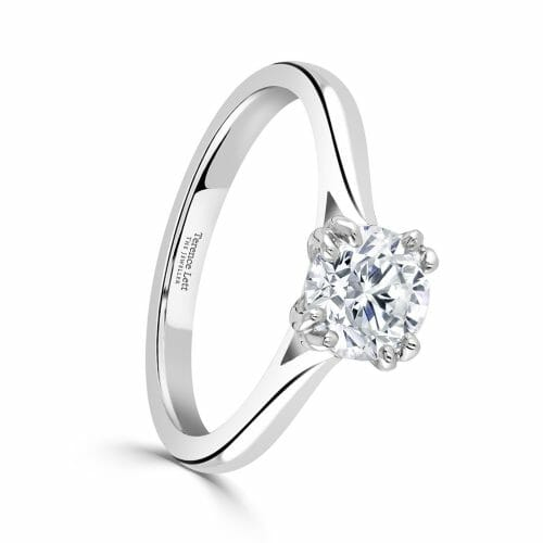 Round Brilliant Cut Diamond Single Stone Double Four Claw Ring 1ct DR2924